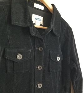 Old Navy casual velour jacket coat